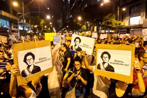 Manifestação no RJ. Crédito: Vitor Vogel