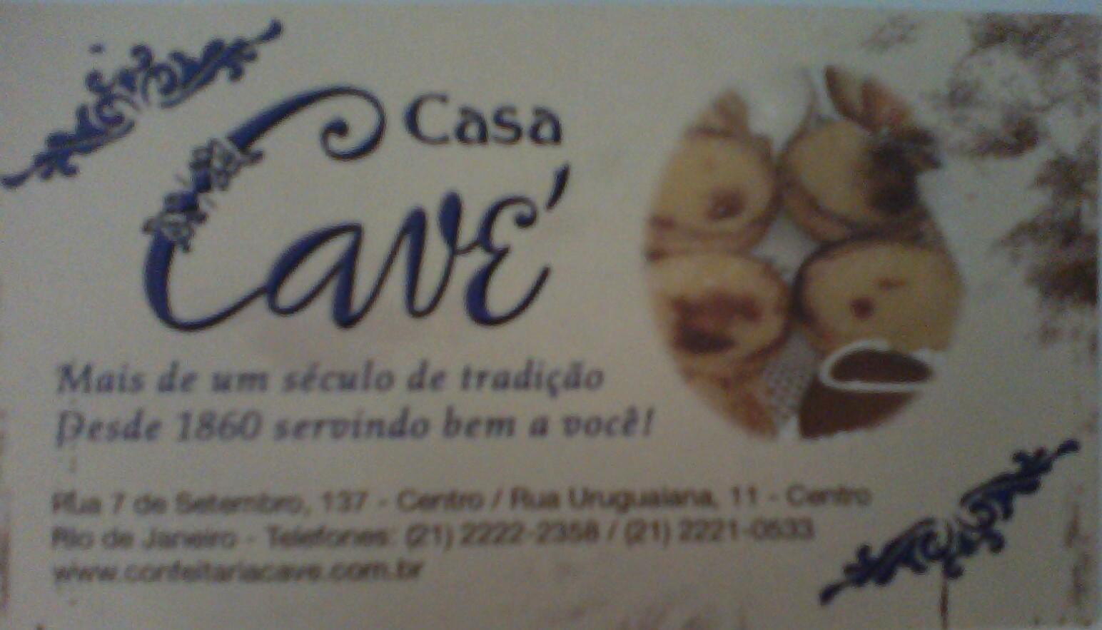 Cartão da Casa Cavé