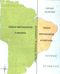 O Tratado de Tordesilhas, de 1494, serviu como base para dividir a exploração americana entre Espanha e Portugal. O que, no entanto, nunca teve maiores limites foi a dominação inglesa no continente, que continuou mesmo após a independência das colônias.
