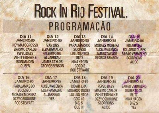 Nem só do bom e velho rock n' roll viveu o Rock in Rio