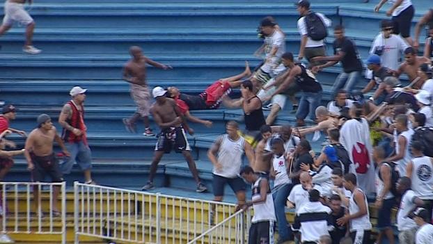 Batalha em Joinville deixou quatro feridos e dúvidas sobre organização (Foto: Reprodução)