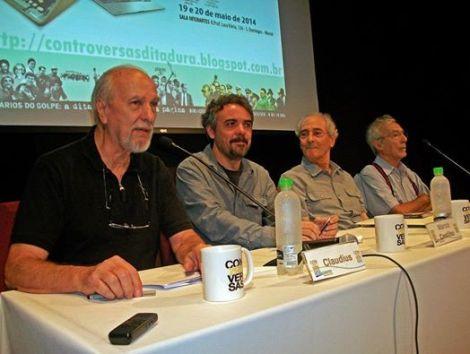 Com bom humor e muita nostalgia, a segunda mesa falou sobre como a imprensa alternativa driblava a censura (Foto: Equipe Controversas)