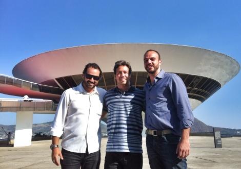 Bruno Souza (Secretário de Esportes), Giuliano Lara (Organizador) e  José Guilherme (Sub-Secretário de esportes) - Foto: Divulgação