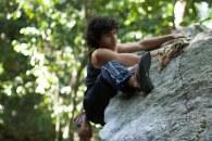 Daniel Aguilera escalando na Urca, Rio de Janeiro