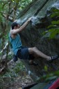 André Luiz Várzea escalando na Urca, Rio de Janeiro