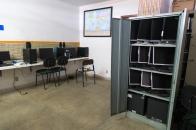 Sala de informática descoberta por alunos em ocupação no Col. Pinto Lima